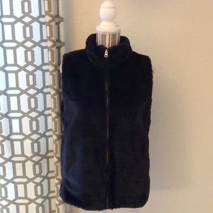 J. Crew factory faux fur vest.